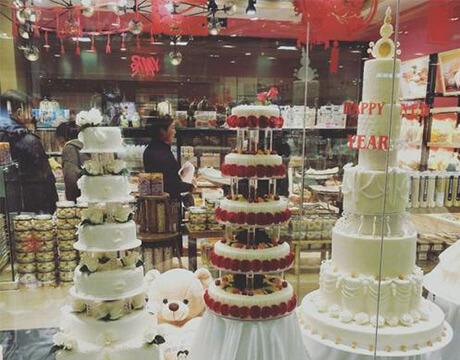 金满蛋糕的多层蛋糕
