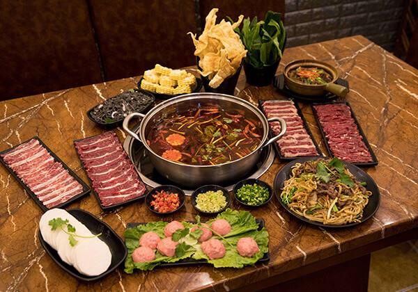 今日牛事牛肉火锅的小套餐