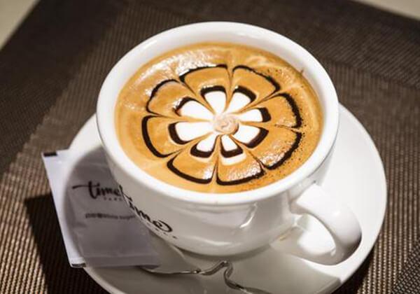研磨时光咖啡的拉花