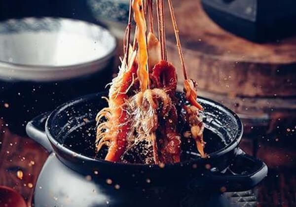 串里求个签串串香新鲜的食材